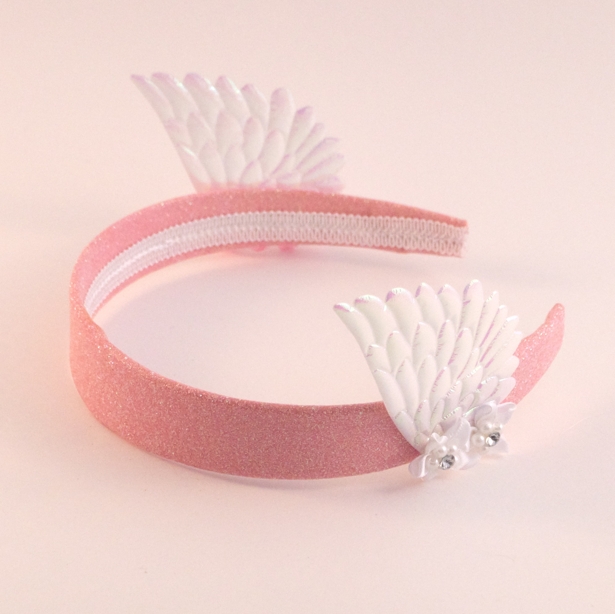 Pink And White Flower Valkyrie Headband On Storenvy
