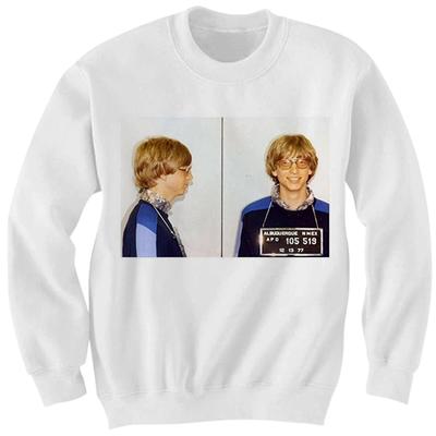 2caaa9b2e8b Bill gates mug shot sweatshirt celebrity shirts cool shirts great gifts  birthday gifts christmas gifts -