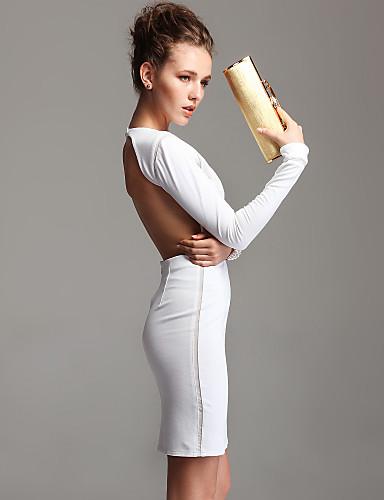 Longsleeve White Backless Bodycon Dress On Storenvy