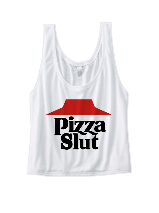 PIZZA SLUT CROP TOP COOL SHIRTS FUNNY SHIRTS GREAT GIFTS FOR TEENS ...