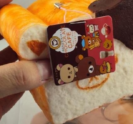 Rilakkuma Squishy Loaf Of Bread : JUMBO Rilakkuma Bread Loaf Dipped in Chocolate Sweets Cafe Series Squishy Charms ? Kawaii ...