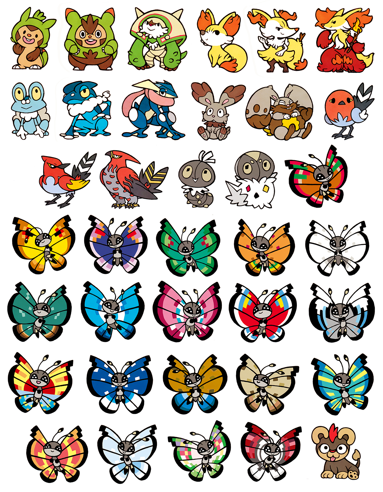 gen 6 pokemon stickers on storenvy