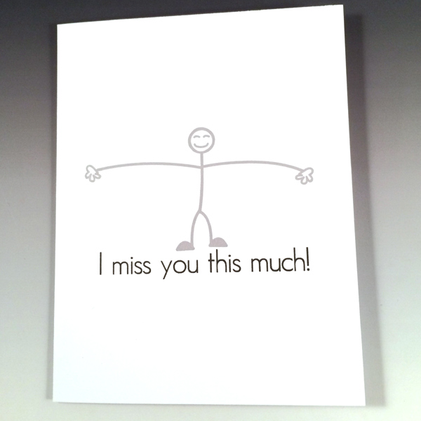 i miss you this much funny card general greeting card greeting