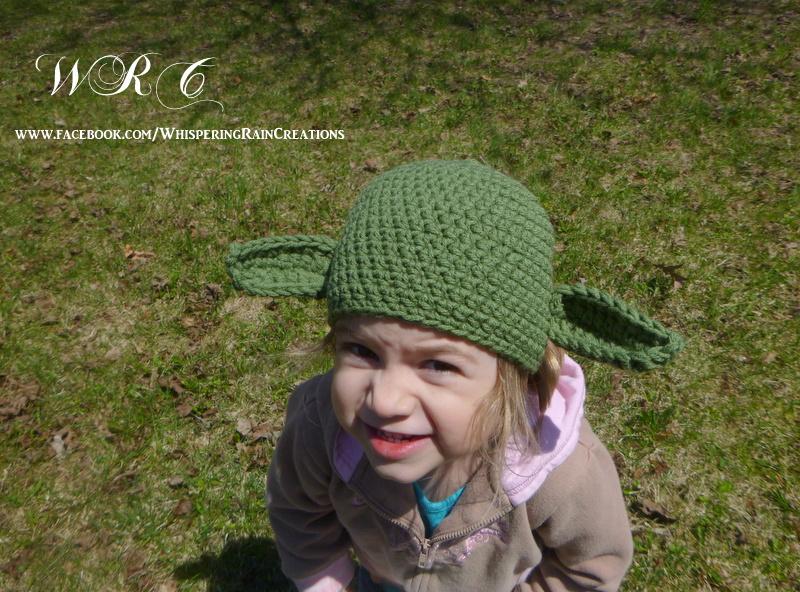 5ca0ba4f32be4 Teen to Adult Yoda crochet hat