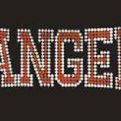 Rangers Baseball Rhinestone Transfer Iron On Wholesale