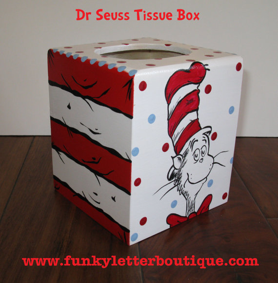 Cat In The Hat Tissue Box Cover Funky Letter Boutique Online
