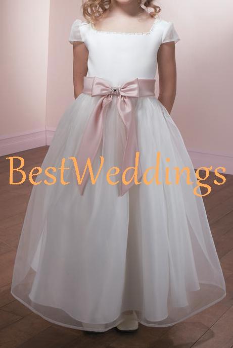 34a6d05f5b9 white organza flower girl dress ruched blush sashes kids girl tutu dress  toddler dress