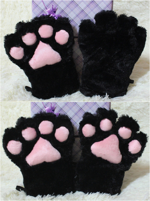 Adorable Cosplay Cat Paw Gloves For Maid Custom Props Tool