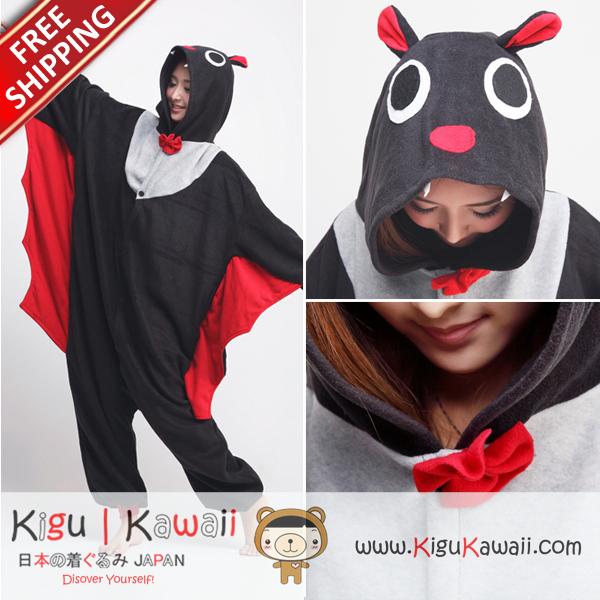 70e3099084 New Bat Kigurumi Adult Animal Pajamas Pyjamas Onesie Cosplay Costume ...