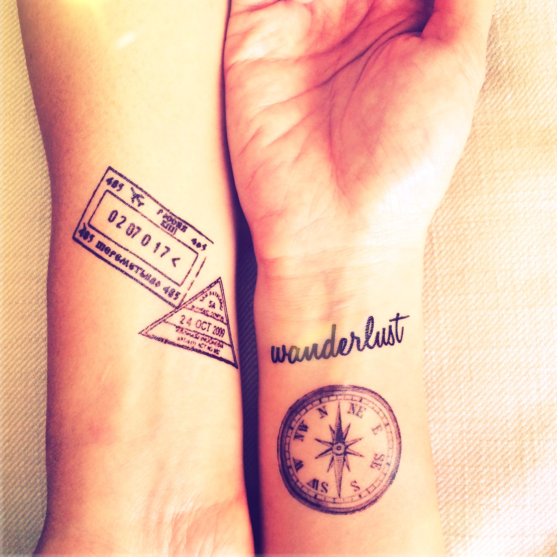 5pcs Set Travel Collection Vintage Compass Wwanderlust Stamp Map tattoo -  InknArt Temporary Tattoo - wrist quote tattoo body sticker fake from  InknArt