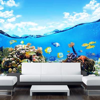 Copy Of Wall Sticker Mural Ocean Sea Underwater Decole