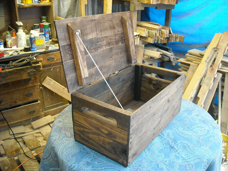 Primitive Wood Box, Storage Chest, Trunk, home decor style ...