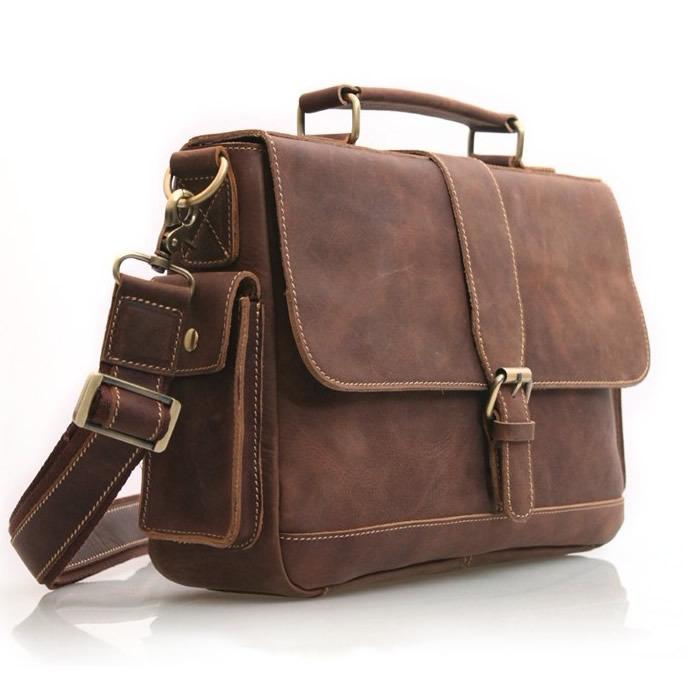 9f11c44a54d51 Handmade Vintage Leather Briefcase   Leather Messenger Bag   Leather ...