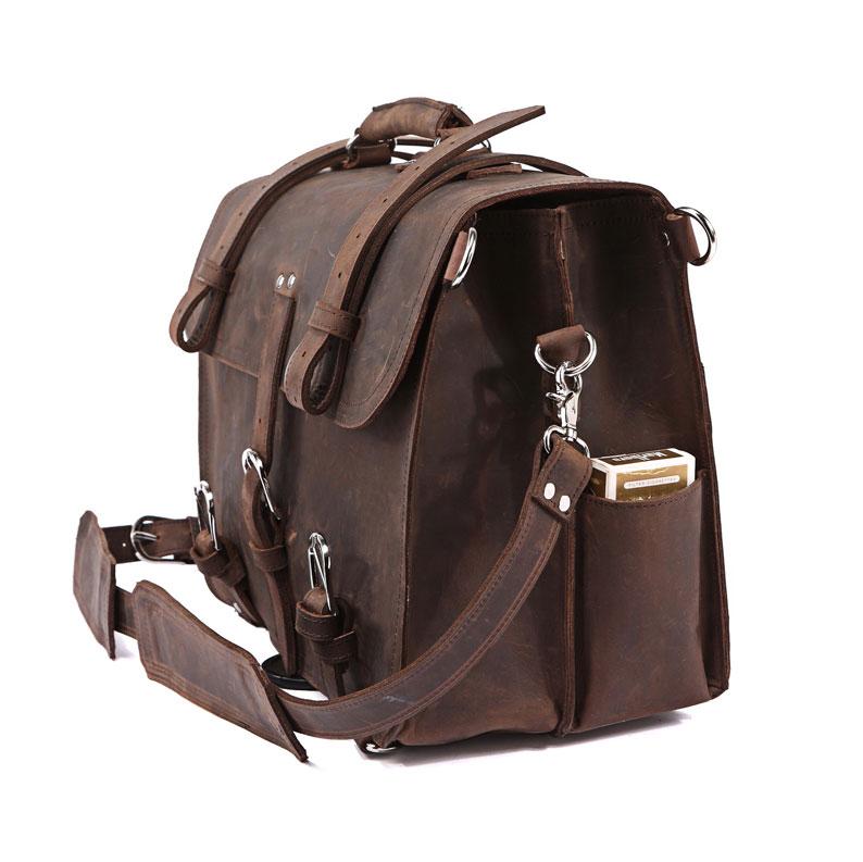 7ba3205037 Men s Large Handmade Vintage Leather Briefcase   Leather Satchel   Leather  Travel Bag -- Leather ...