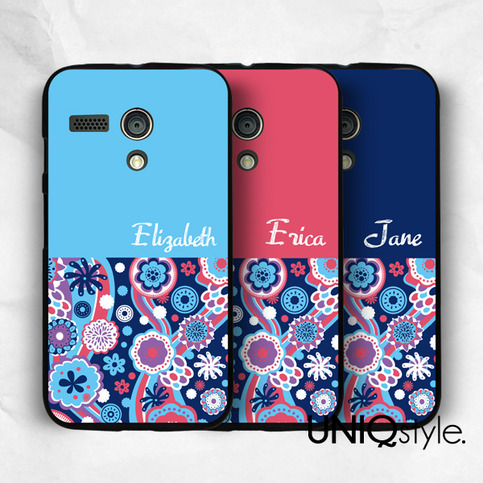 Floral Personalized name monogram phone case for iPhone 7 ...