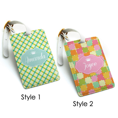 Luggage Tag Travel Bag Tag Colorful Chic Funny Pattern