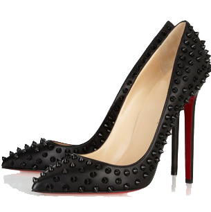 new style 5aa37 e86c5 Black 11cm pointed toe rivet spike red bottoms high heels wedding shoes  patent leather women pumps sold by STYLISH N TRENDY
