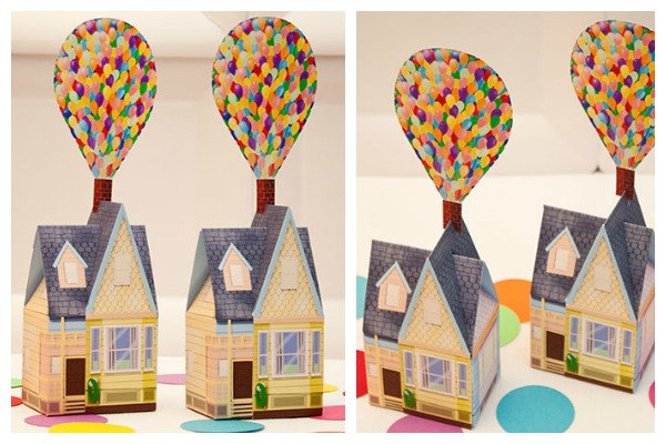 image about House From Up Printable known as BALLOON Residence Choose Box - Do it yourself Printable Dwelling towards Piggy Financial institution Functions