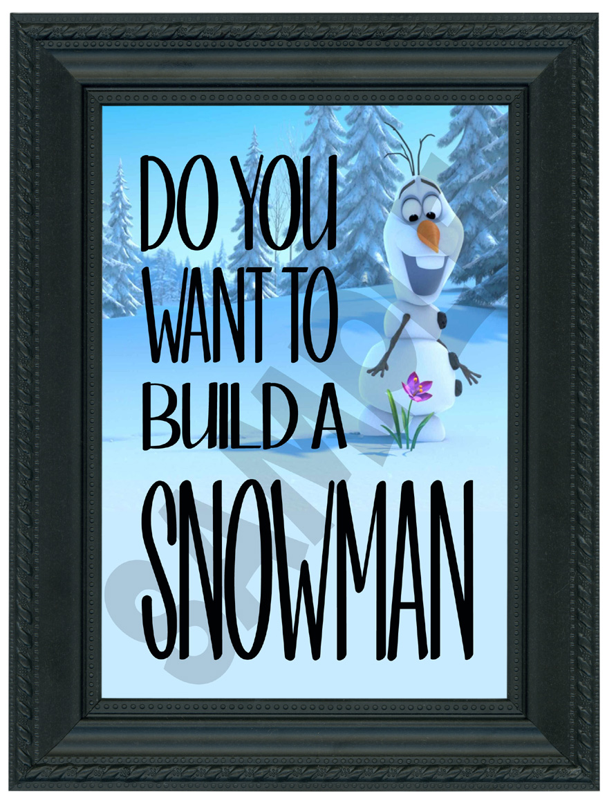 photo regarding Do You Want to Build a Snowman Printable named Frozen encouraged 5x7 Olaf \