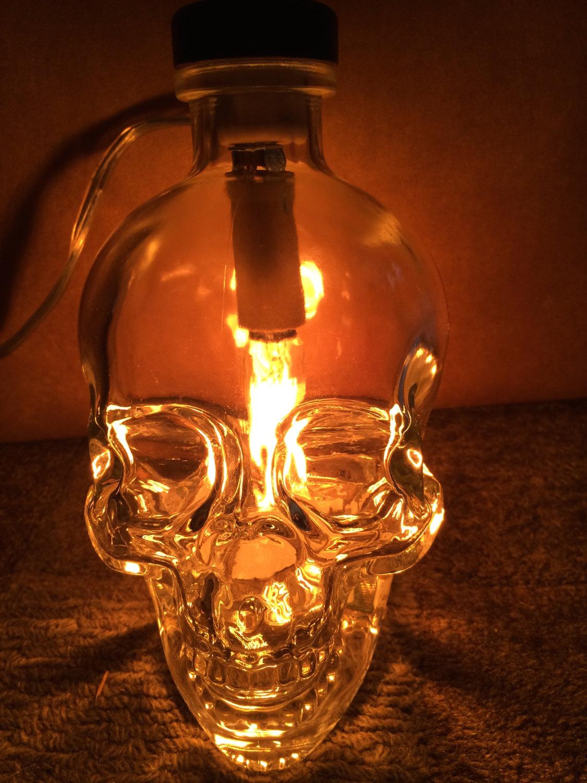 Upcycled Crystal Head Vodka Bottle Lamp On Storenvy