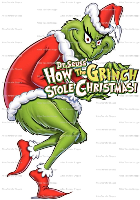 Dr Seuss How The Grinch Stole Christmas Iron On Heat Transfer On Storenvy