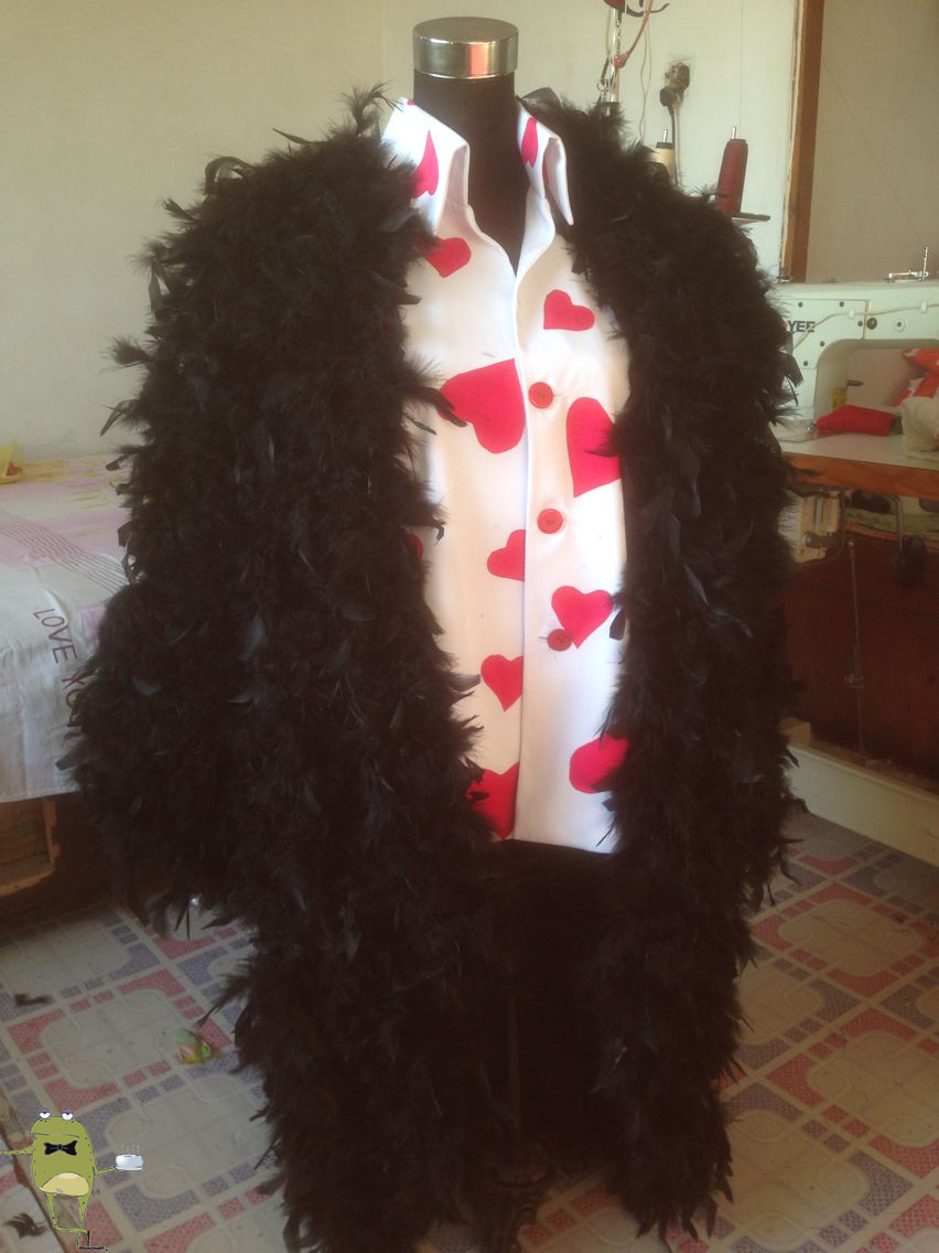 fdb4aa57d0d One Piece Donquixote Rosinante Cosplay Feather Coat on Storenvy