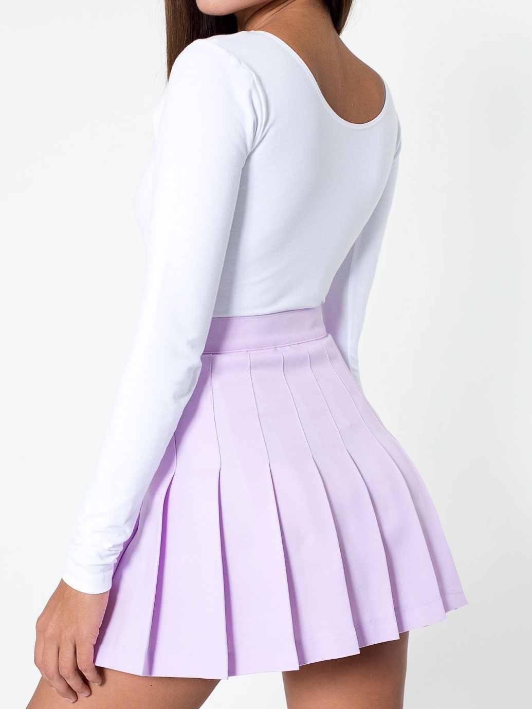 lavender pleated tennisschool skirt on storenvy
