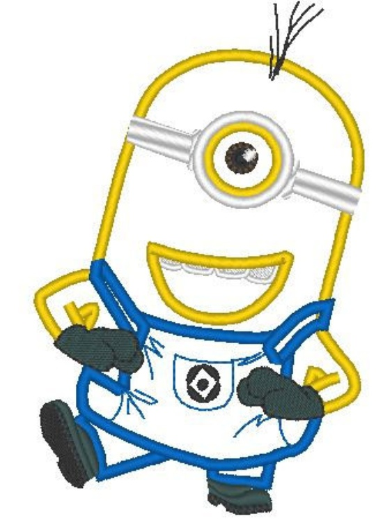 One Minion Eyes Applique Machine Embroidery Designs In 2 Sizes On
