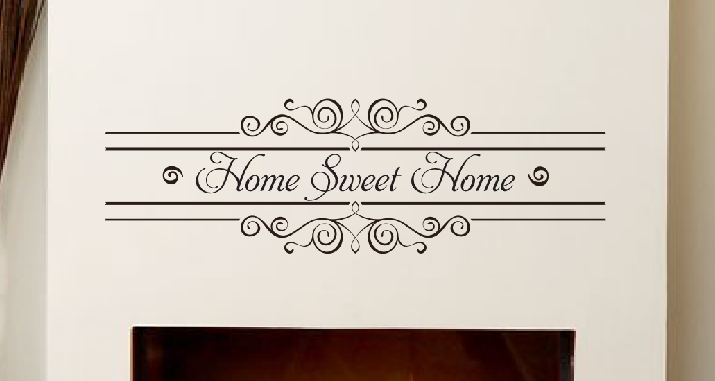 Home Sweet Home Vinyl Wall Decal Scripture Cursive