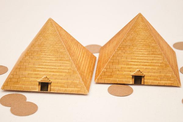 Egyptian Pyramid Favor Box Diy Printable Piggy Bank Parties