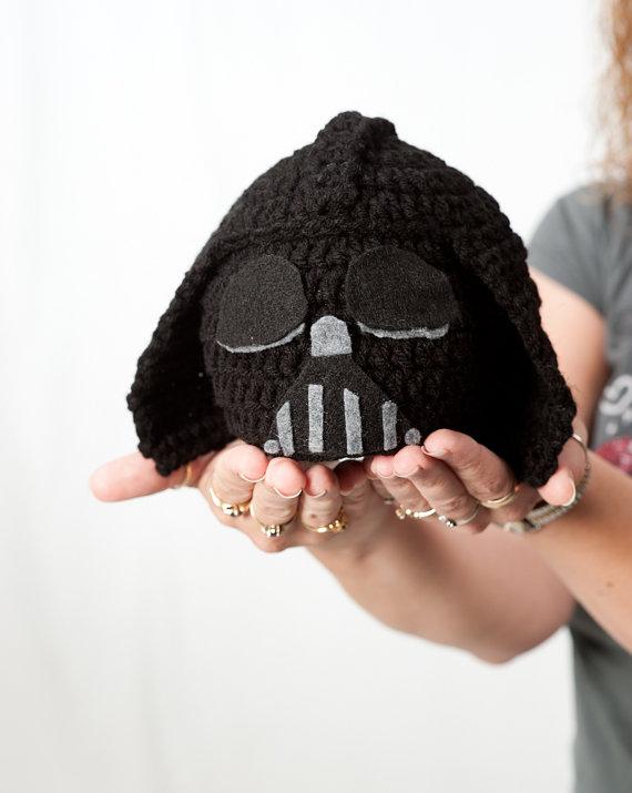 Crochet Hat Star Wars Inspired Darth Vader Hat Beanie Baby Hat On