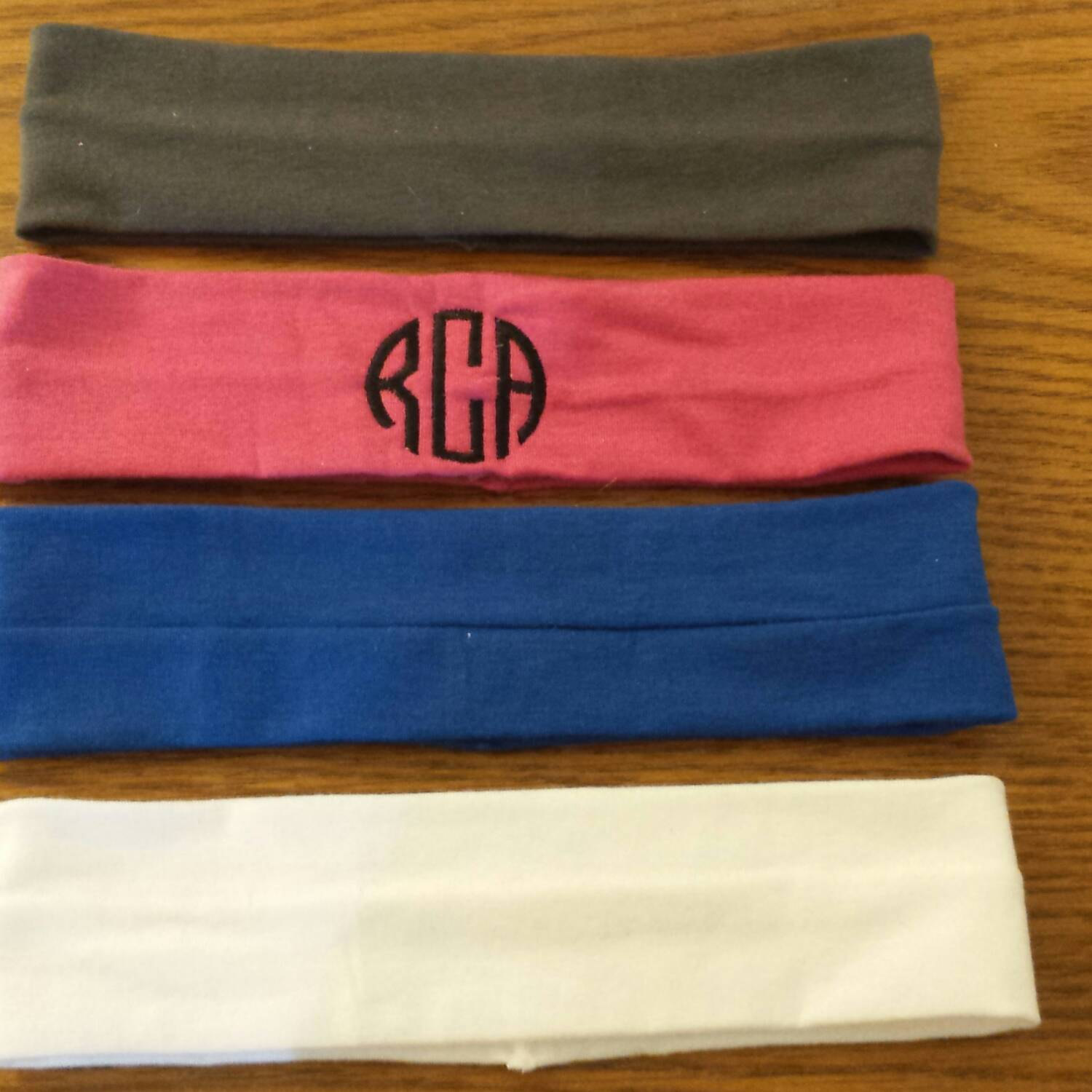 Monogrammed stretch knit cloth headband c7d9c56a21b