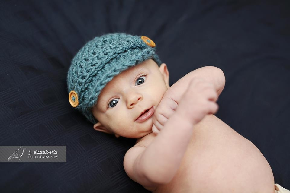 93540846 Dusty Blue Crocheted Baby Newsboy Hat Cap newborn 0-3, 3-6, 6-12 months  Photography Prop Boy Girl shower Gift on Storenvy
