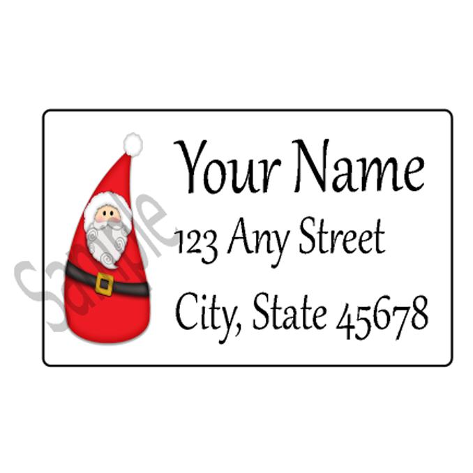 Christmas Address Labels.Christmas Address Labels Personalized Return Address Label Stickers Address Label Christmas Label Gift Tag Santa Gift Tags
