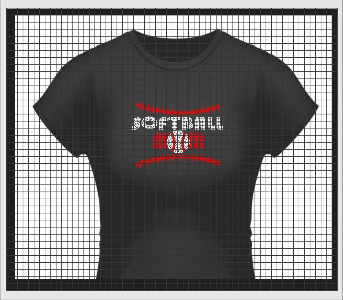 Softball Mom T Shirt Baseball Mom T Shirt Rhinestone T Shirts