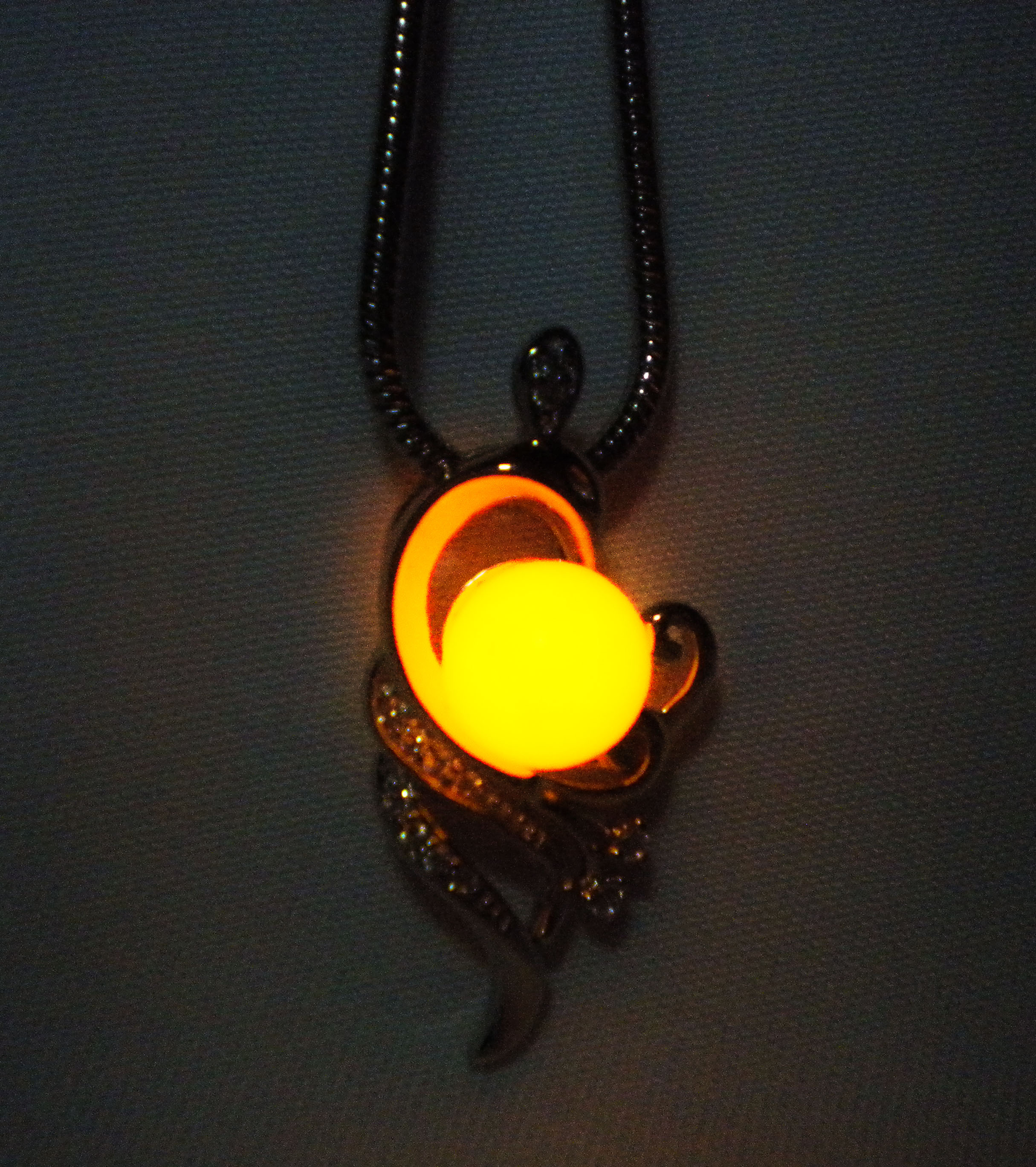 necklace the original moon glow dark shipping wolf in cyan product free