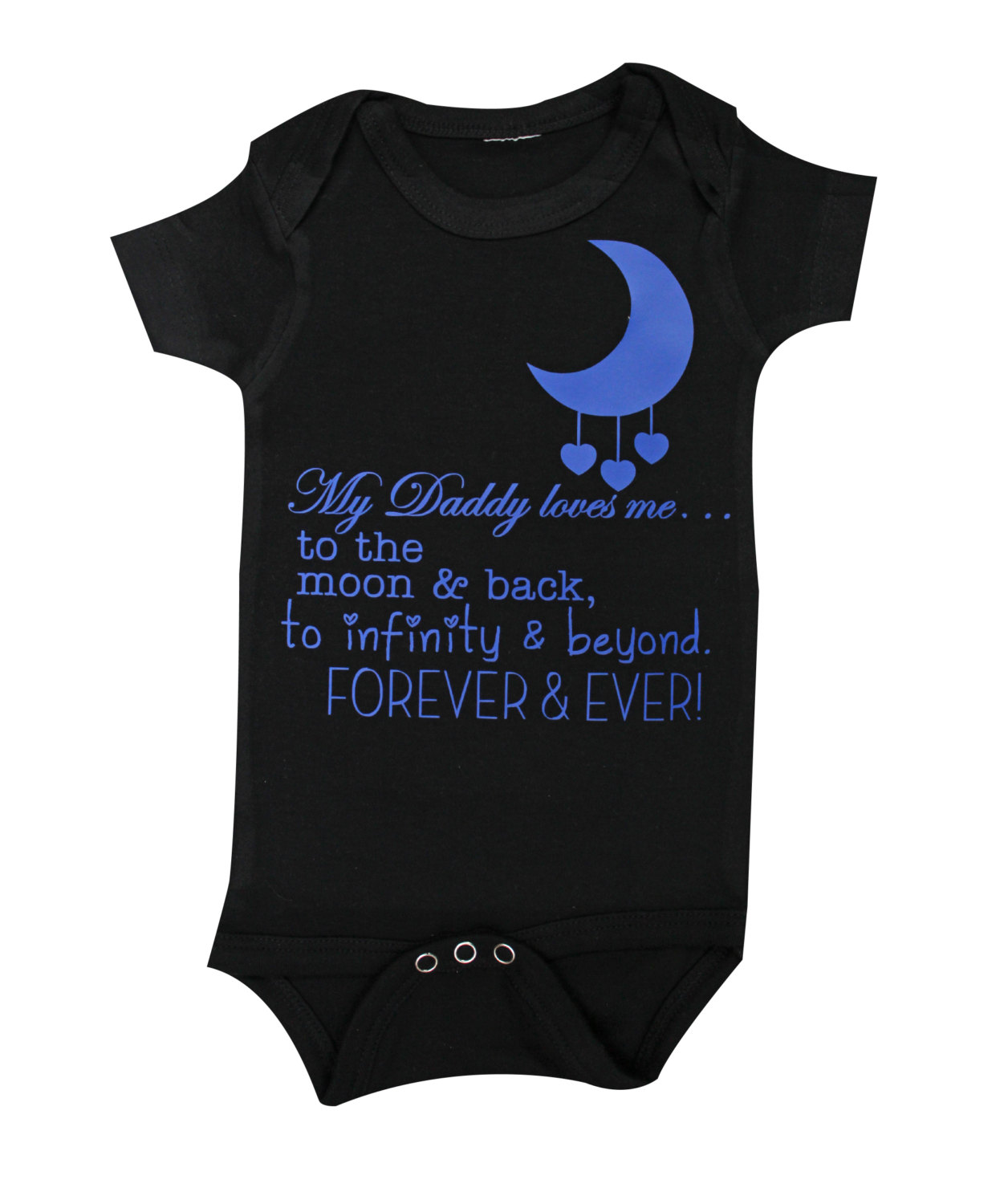 6a0e0717a Daddy loves you to the moon and back forever and ever black baby ...