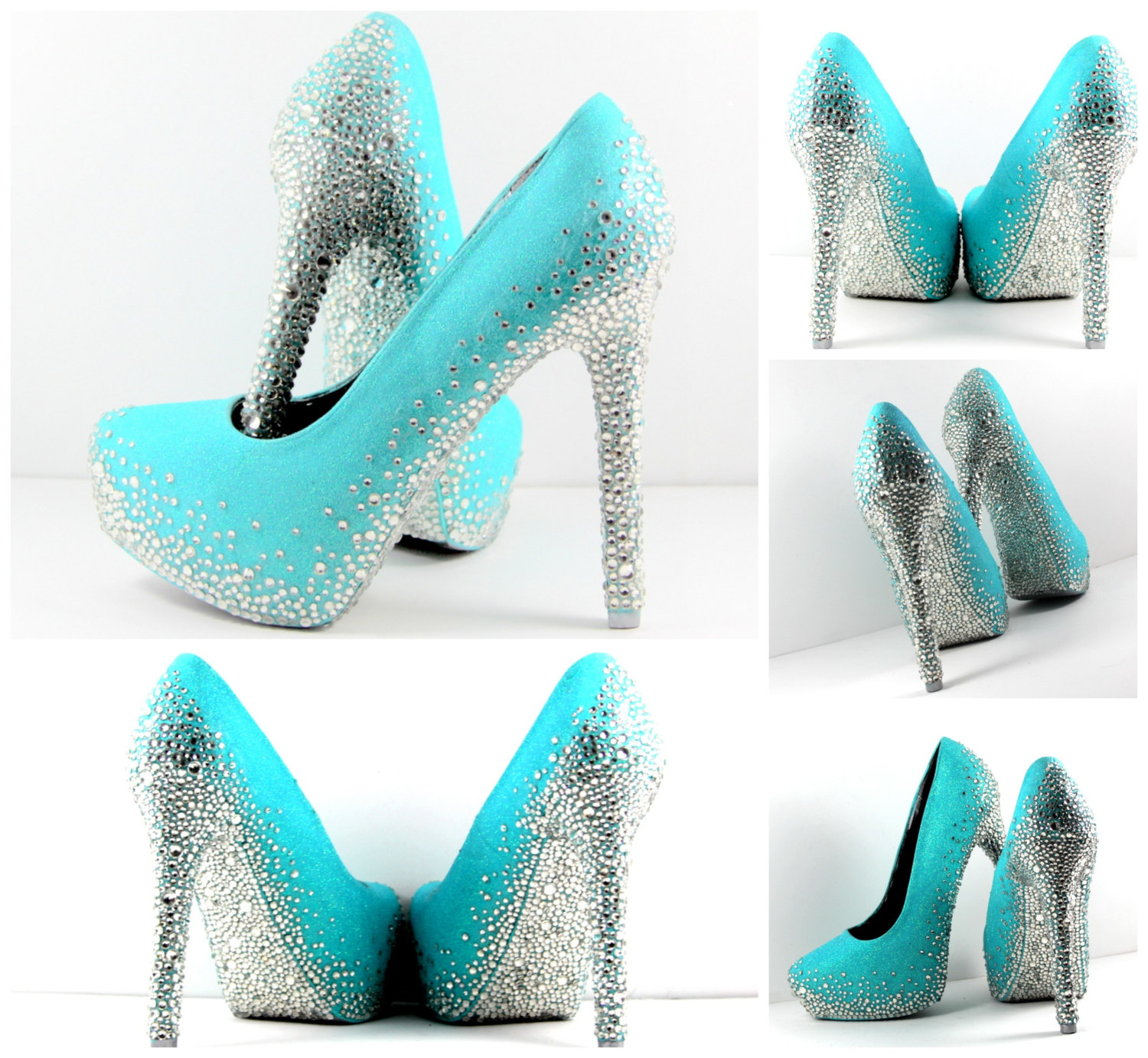 tiffany blue heels with all crystal soles and heels can. Black Bedroom Furniture Sets. Home Design Ideas
