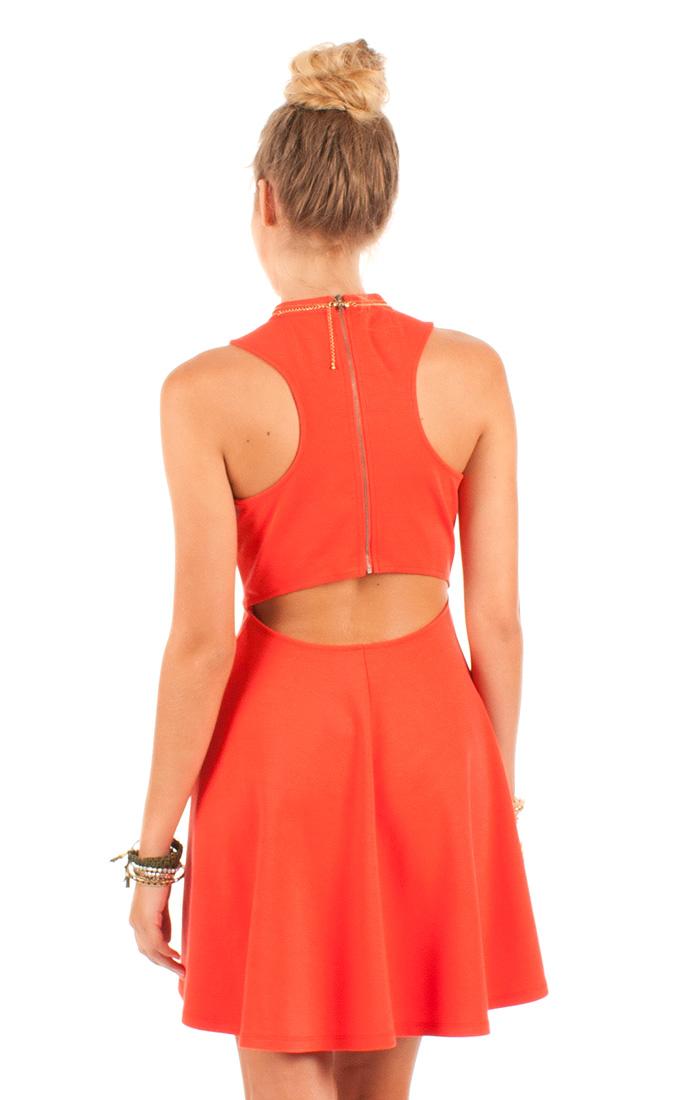 febdb8dea1d Red-Orange Skater Destiny Dress by Others Follow on Storenvy