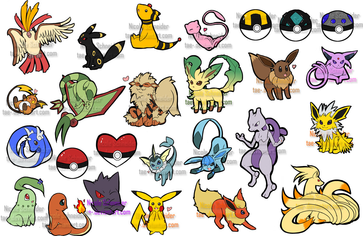 Stickers Pokemon.Pokemon Sticker Project Batch 1 Batch 2 The Collectors Set 57 Stickers Sold By Tae S Boutique