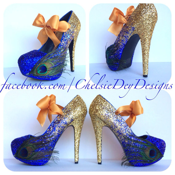 f075231924c Peacock Glitter High Heels