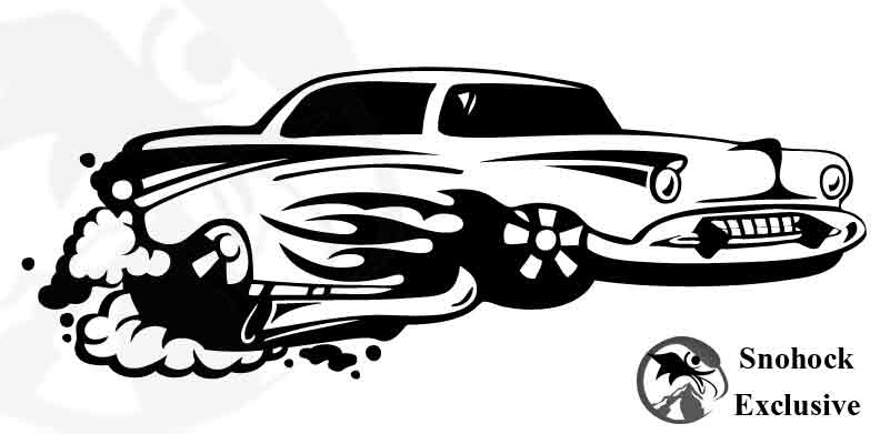 Old School Hot Rod Vinyl Decal 22 Quot By 8 Quot On Storenvy