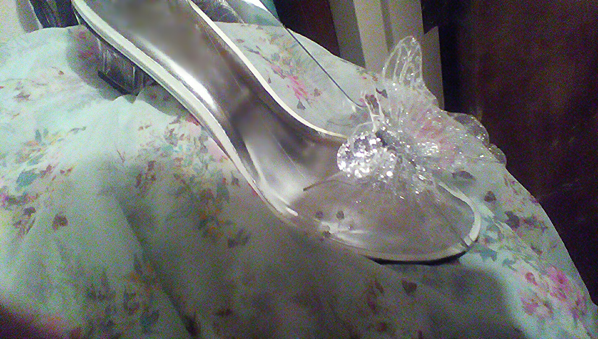 e4070bb77 Wearable adult size Cinderella's 'Glass'Slippers, Silver Butterfly ...
