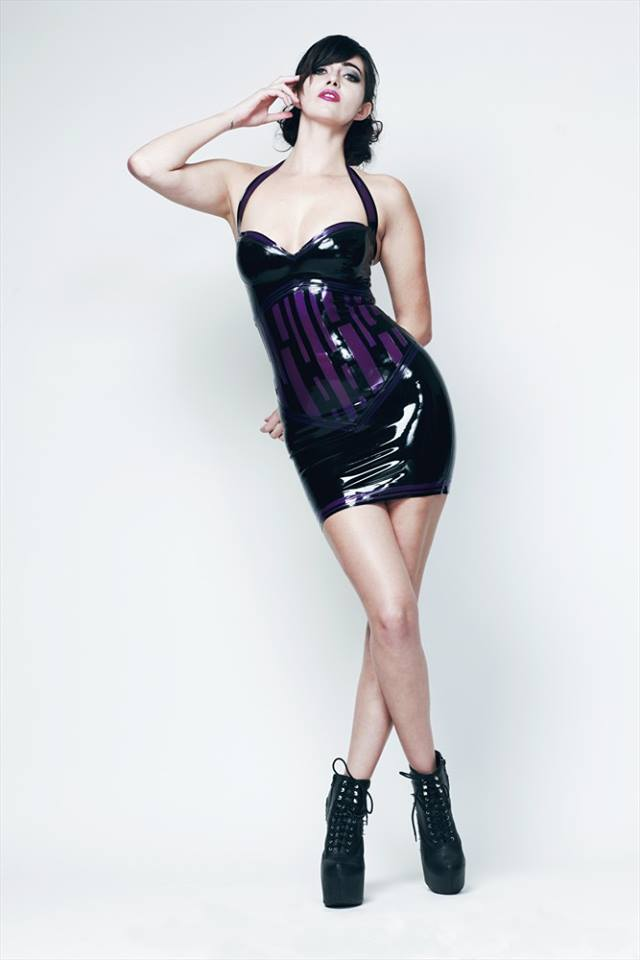 Black And Trans Mauve Latex Halter Dress On Storenvy