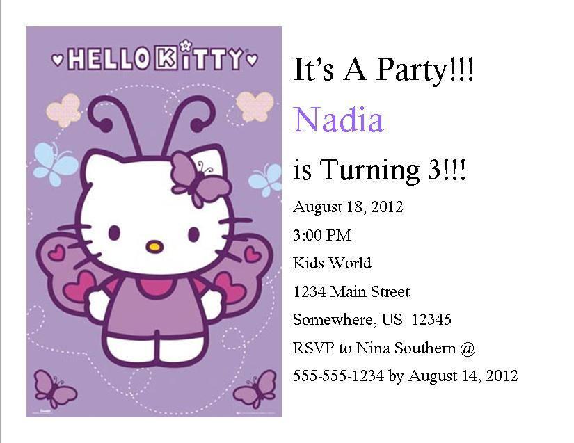 Hello Kitty Birthday Invitation 7