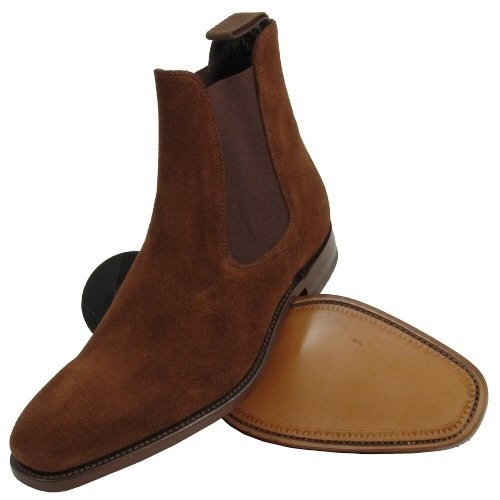 40b2676b9e17b HANDMADE MEN SUEDE LEATHER BOOT, MEN BROWN FASHION ANKLE-HIGH SUEDE BOOTS  from Rangoli Collection