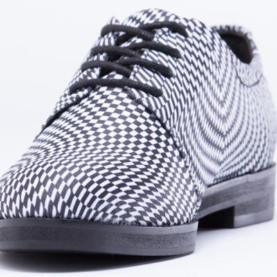 e147a381841 Bmc x solestruck james oxford shoes in  you make me sick  optical illusion  print