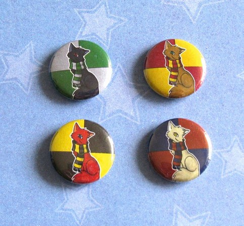 Harry Potter House Scarf Foxes Buttons Set Of 4 On Storenvy