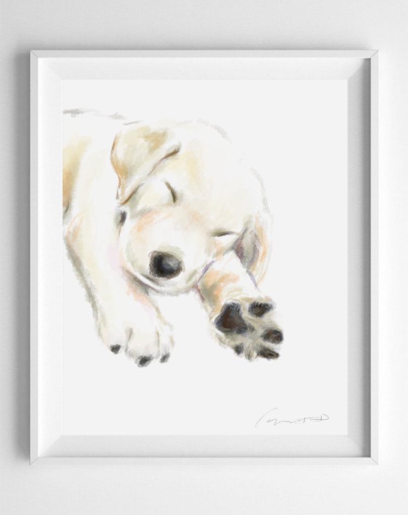 Dog Nursery Golden Retriever Art Golden Retriever Watercolor Golden Retriever Print