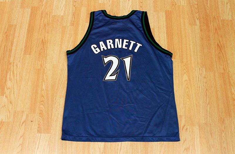 buy popular de841 cd684 Kevin Garnett Timberwolves Jersey from SLAM! Vintage